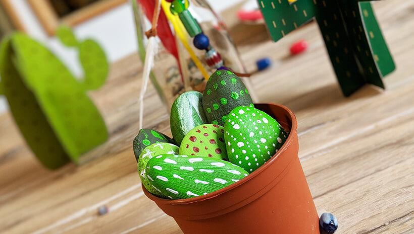 Indianer-Kindergeburtstag-Deko-Kaktus-hellgrün