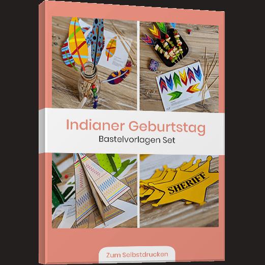 Indianer Kindergeburstag Vorlagenbundle