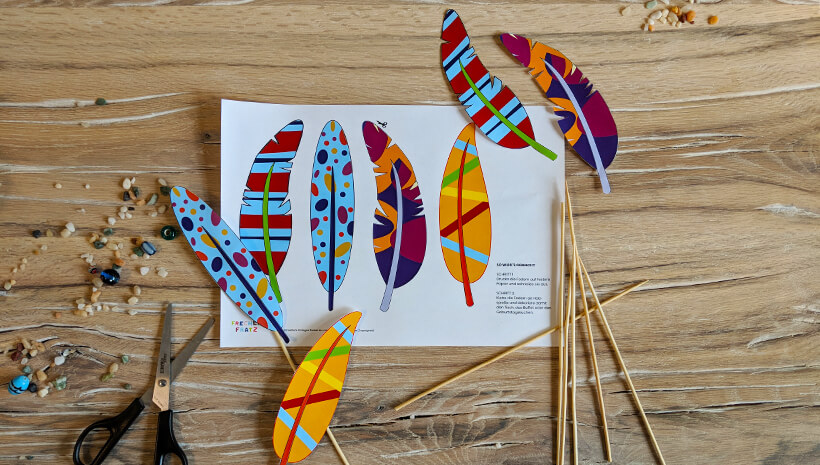 Indianer Kindergeburtstag Deko Federn