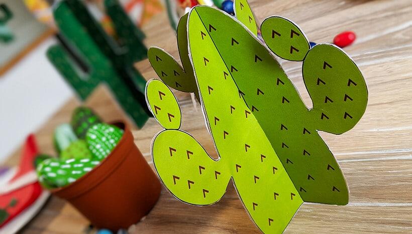 Indianer-Kindergeburtstag-Deko-Kaktus-hellgruen