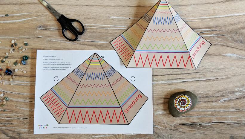 diy indianer kindergeburtstag ber 50 ideen und. Black Bedroom Furniture Sets. Home Design Ideas
