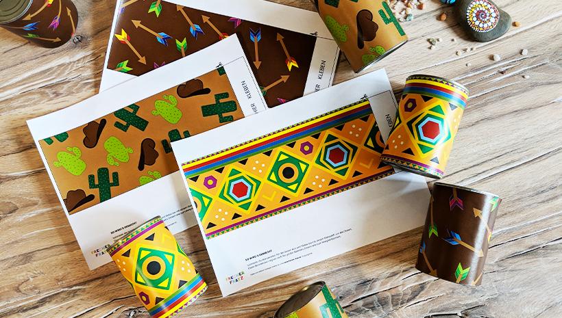 Indianer-Kindergeburtstag-Spiel-Dosenwerfen2