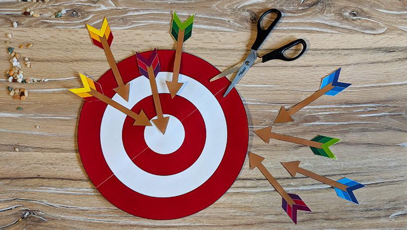 Indianer-Kindergeburtstag-Spiel-Zielscheibe