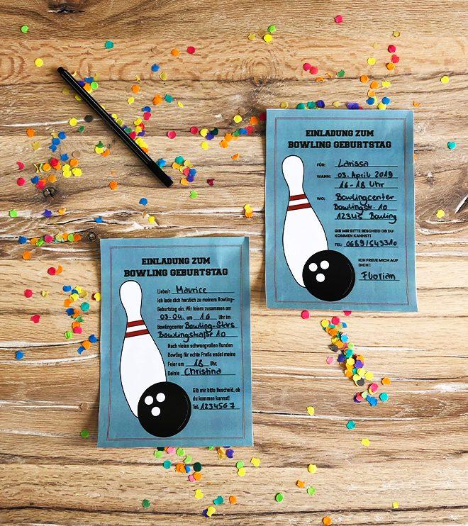Kindergeburtstag-Bowling-Einladung-Vorlage