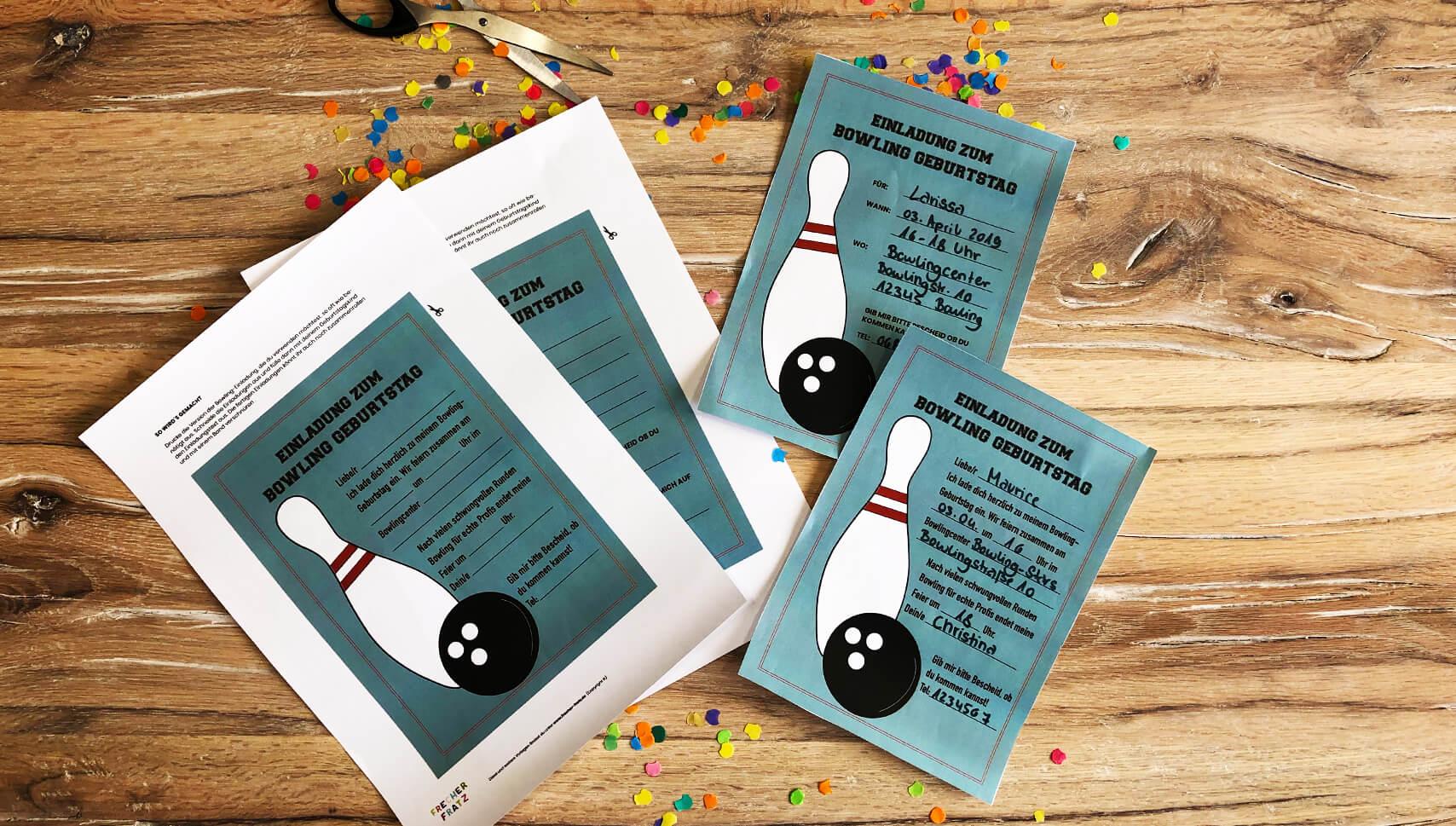 Kindergeburtstag-Bowling-Einladung-Vorlage-ausdrucken
