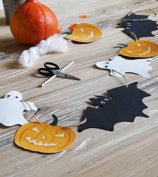 Halloween Kindergeburtstag.Halloween Girlande