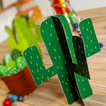 Kindergeburtstag-Indianer-Dekoaufsteller-Kaktus