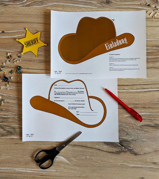 Kindergeburtstag-Indianer-EInladung-Cowboyhut_Shop1