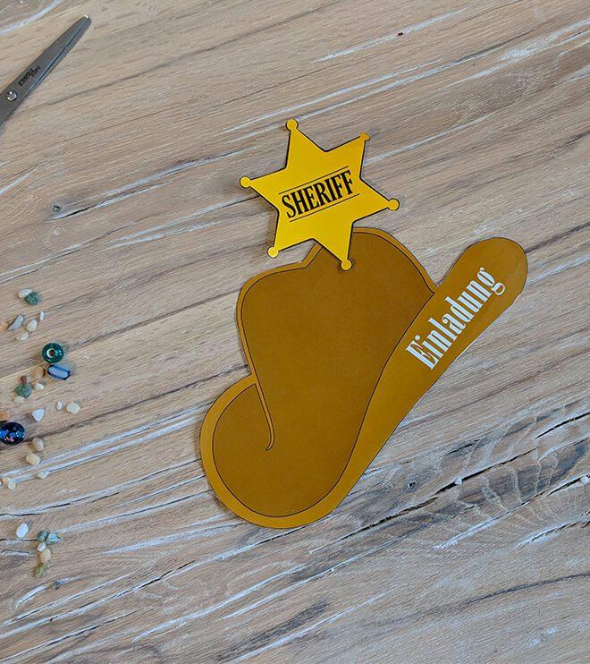 fairer Preis 100% Zufriedenheit gut Cowboyhut Einladung