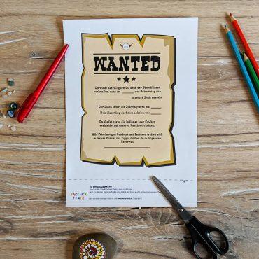 Kindergeburtstag-Indianer-Einladung-Wantedplakat
