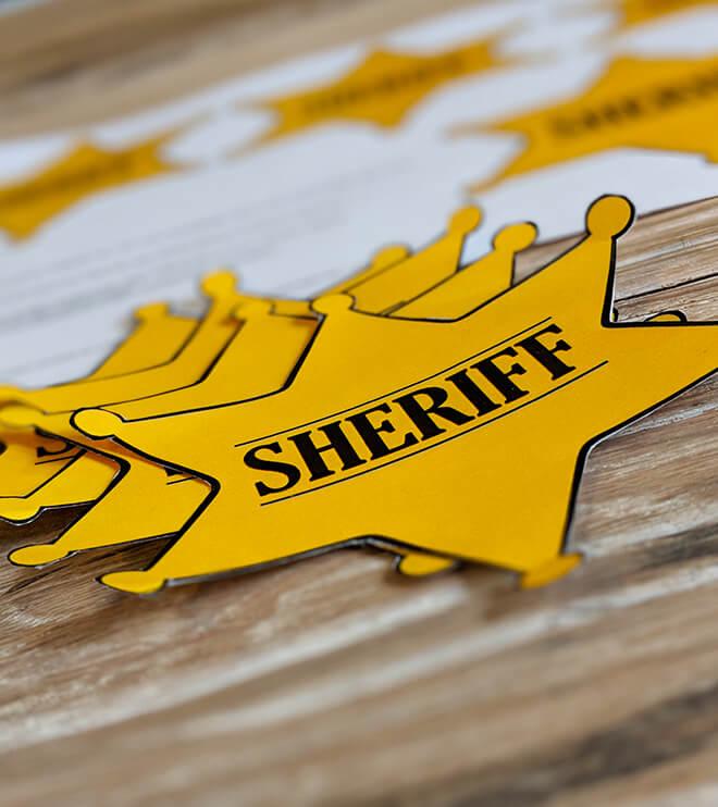 Kindergeburtstag-Indianer-SheriffStern
