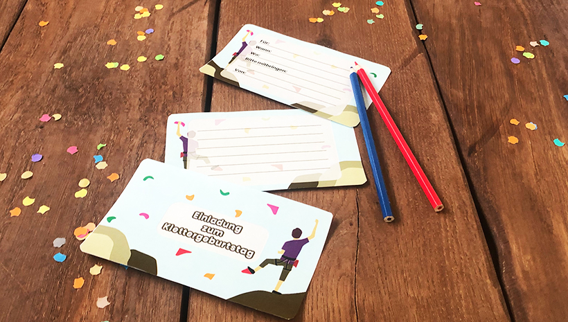 Kindergeburtstag-Klettern-Einladung