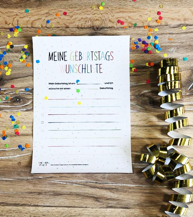 Kindergeburtstag-Wunschliste-ausdrucken