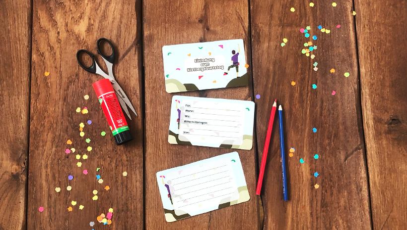 Kletter-Kindergeburtstag-Einladung-Postkarte