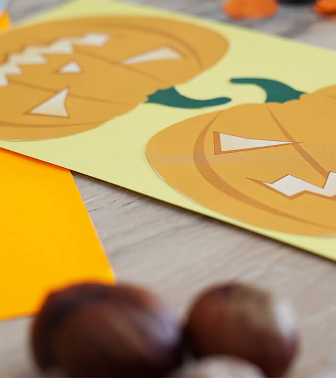 Halloween Kindergeburtstag Kürbis Einladung