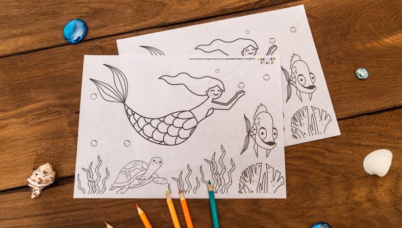 Meerjungfrau-Kindergeburtstag-Ausmalbild-1