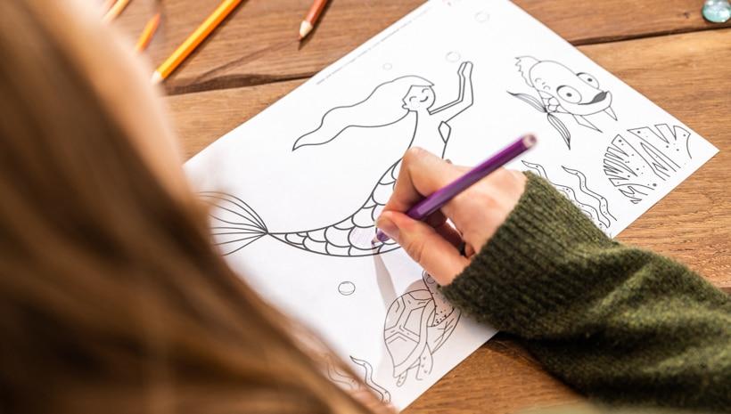 Meerjungfrau-Kindergeburtstag-Ausmalbild-2