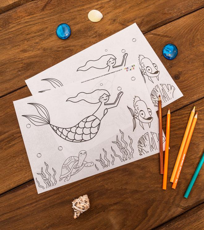 Meerjungfrau-Kindergeburtstag-Ausmalbild-Shop-1