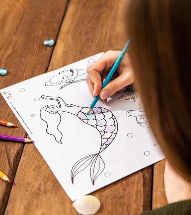 Meerjungfrau-Kindergeburtstag-Ausmalbild-Shop-3