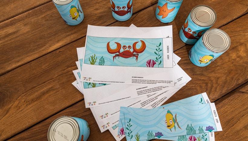 Meerjungfrau-Kindergeburtstag-Dosenwerfen-2