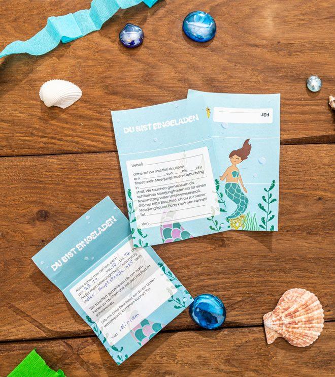 Meerjungfrau-Kindergeburtstag-FaltEinladung-Shop-2