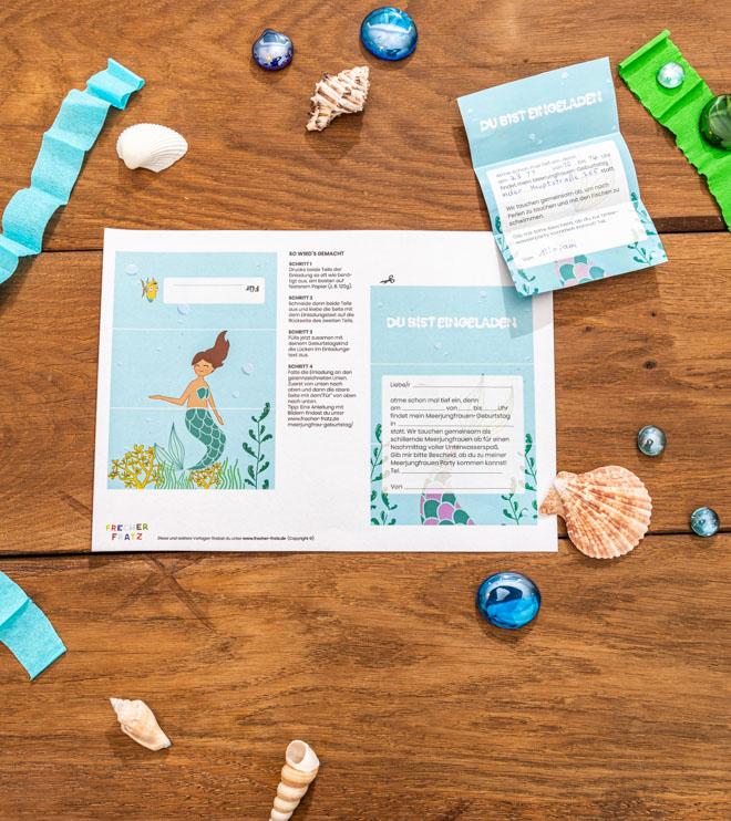 Meerjungfrau-Kindergeburtstag-FaltEinladung-Shop-3
