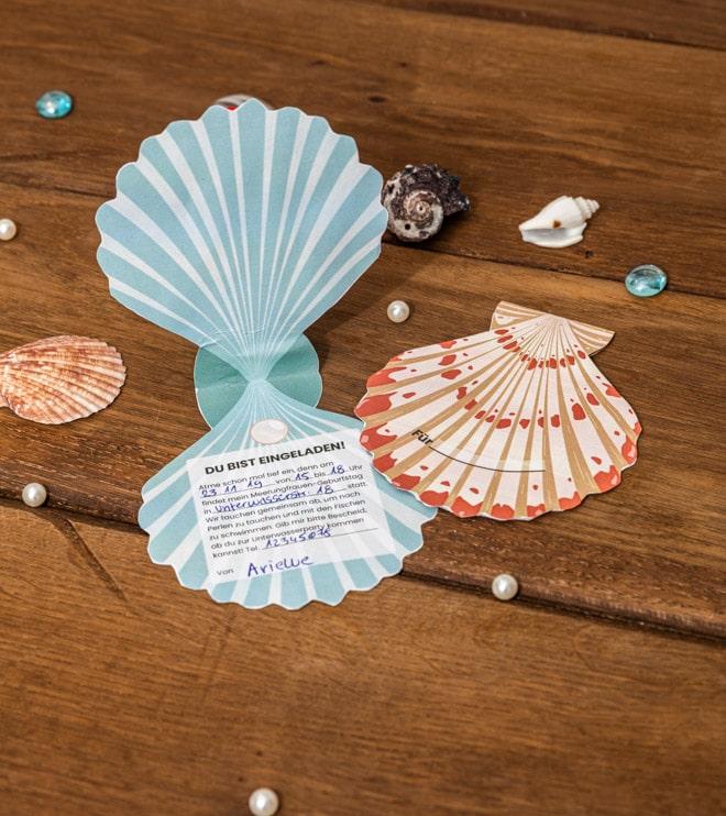 Meerjungfrau-Kindergeburtstag-MuschelEinladung-Shop-1