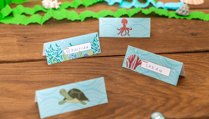 Meerjungfrau-Kindergeburtstag-Namensschilder-1