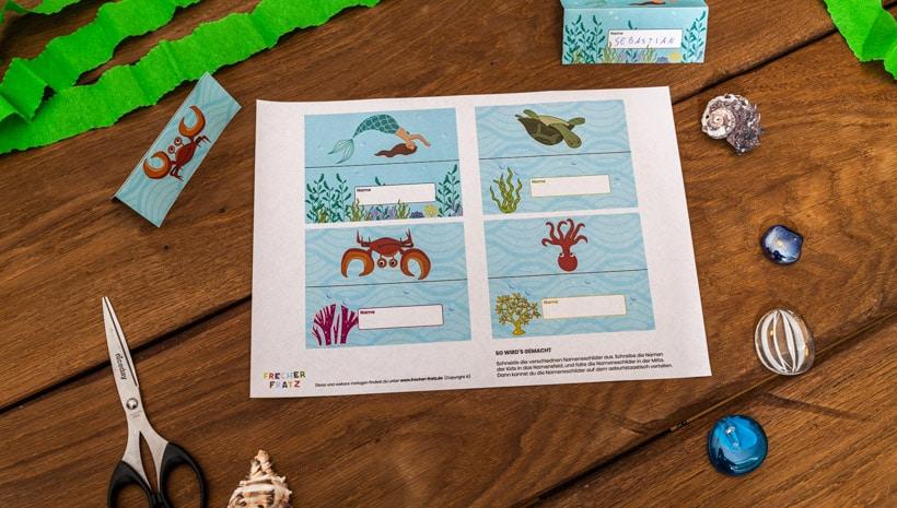Meerjungfrau-Kindergeburtstag-Namensschilder-3