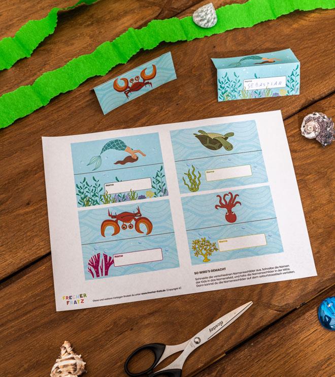 Meerjungfrau-Kindergeburtstag-Namensschilder-Shop-2