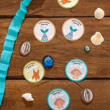 Meerjungfrau-Kindergeburtstag-Unterwasserausweise-Shop-1
