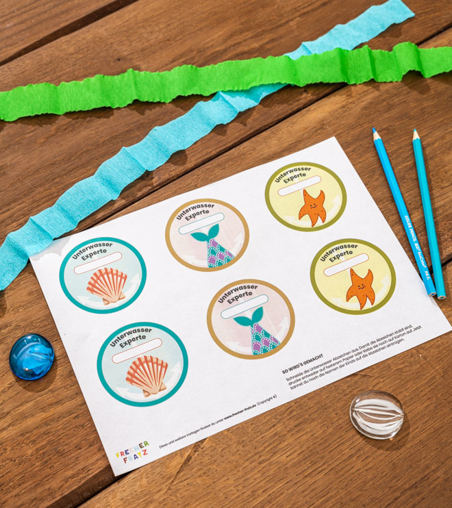 Meerjungfrau-Kindergeburtstag-Unterwasserausweise-Shop-2