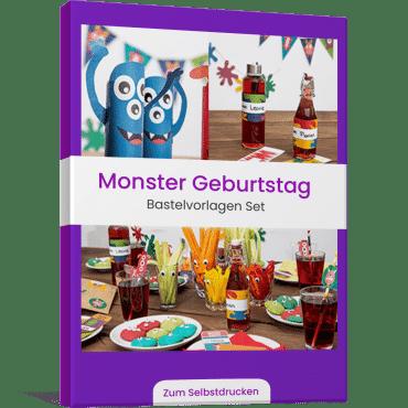 Monster Geburtstag Ideen Set Vorlagen