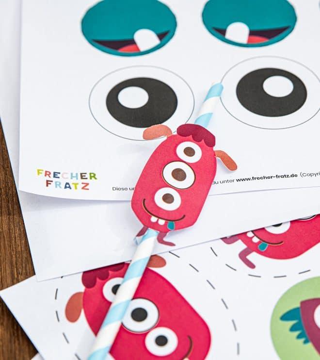 Monster Kindergeburtstag Dekopicker Bastelvorlage Shop