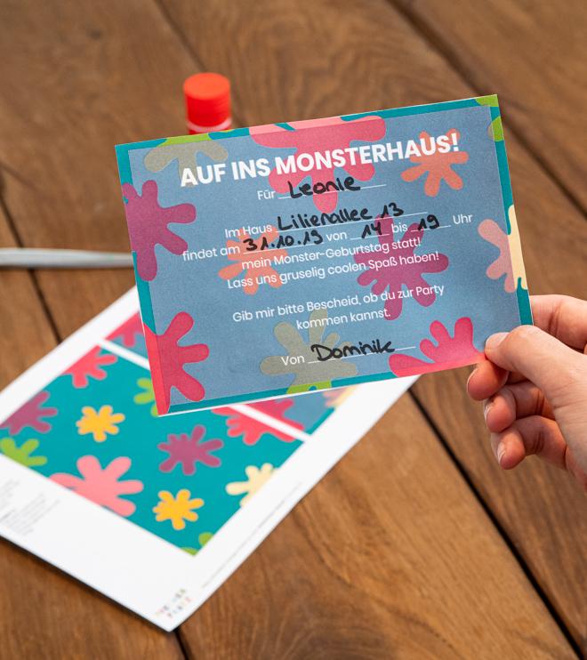 Monster Kindergeburtstag Einladung Postkarte Shop