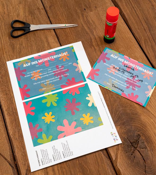 Monster Kindergeburtstag Einladung Postkarte Shop (2)