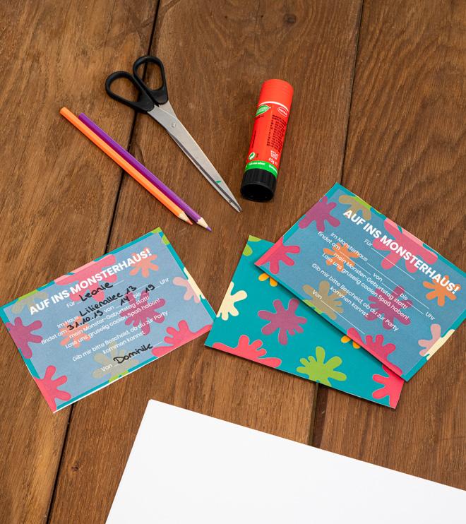 Monster Kindergeburtstag Einladung Postkarte Shop3