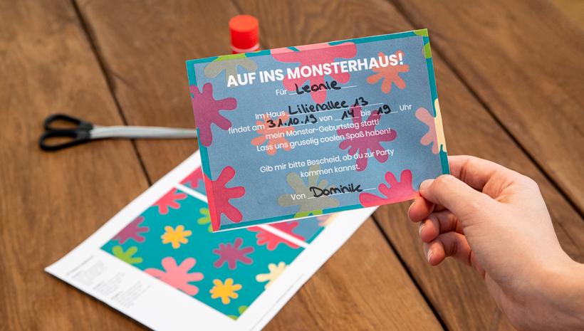 Monster Kindergeburtstag Einladung Postkarte