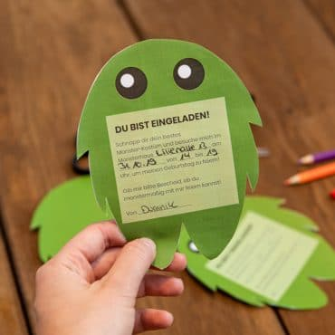 Monster Kindergeburtstag Einladung einfache Bastelanleitung Shop
