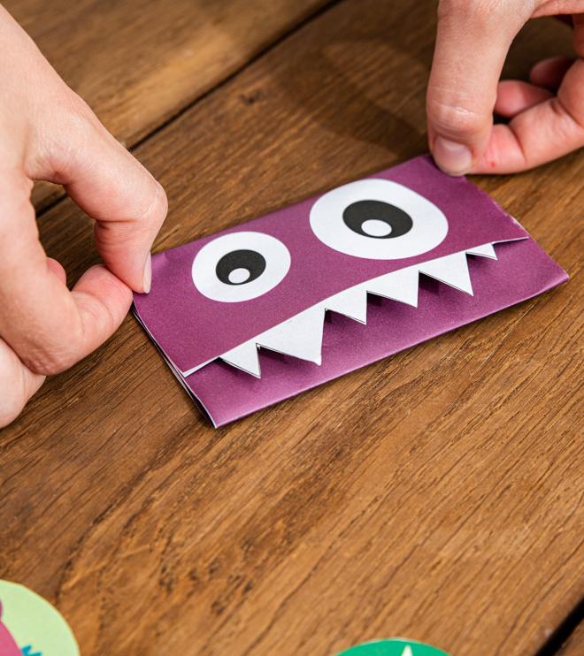 Monster Kindergeburtstag Einladung zum Falten Shop (1)