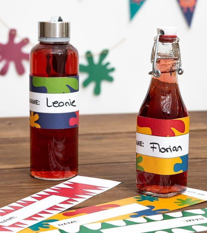 Monster Kindergeburtstag Flaschenbanderolen Vorlage Shop