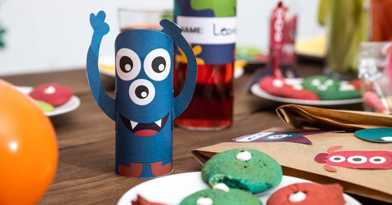 Monster Kindergeburtstag Ideen Tischdeko