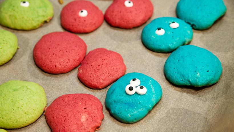 Monster Kindergeburtstag Kekse mit Augen