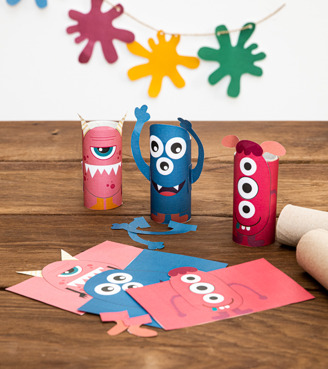 Monster Kindergeburtstag Klopapier Monster Bastelanleitung Shop