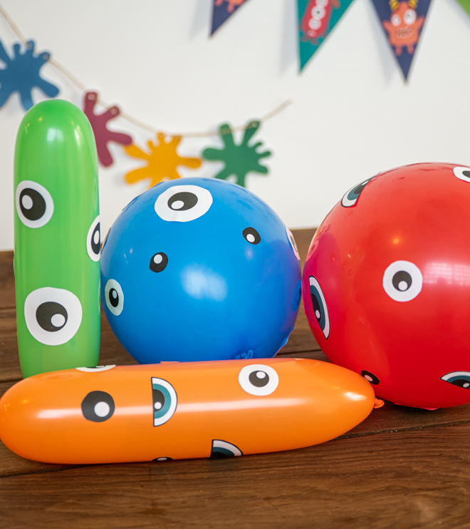 Monster Kindergeburtstag Luftballons Vorlage Anleitung Shop