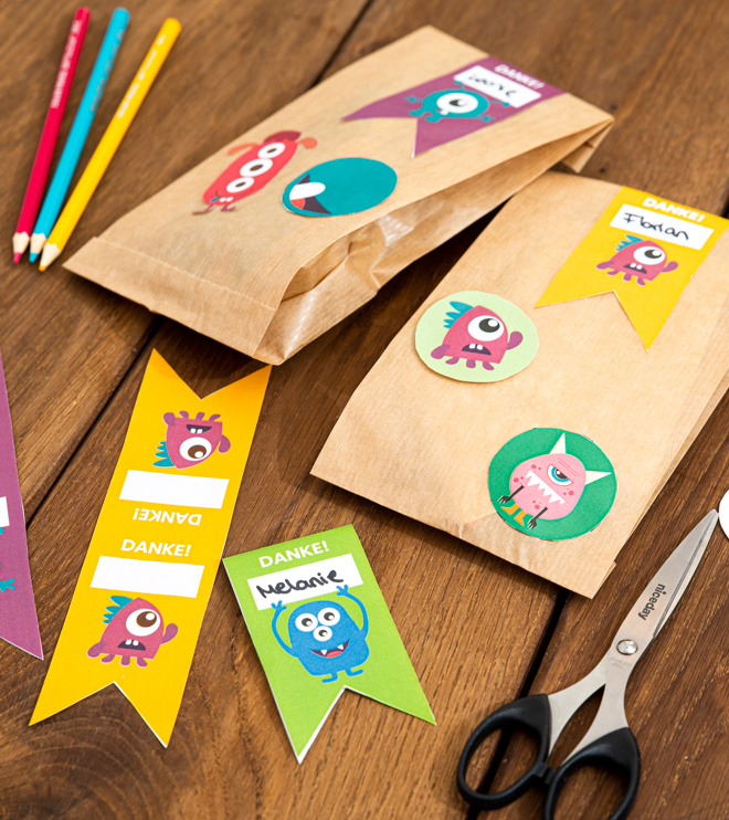 Monster Kindergeburtstag Mitgebseltüten Vorlage zum Herunterladen Shop (4)