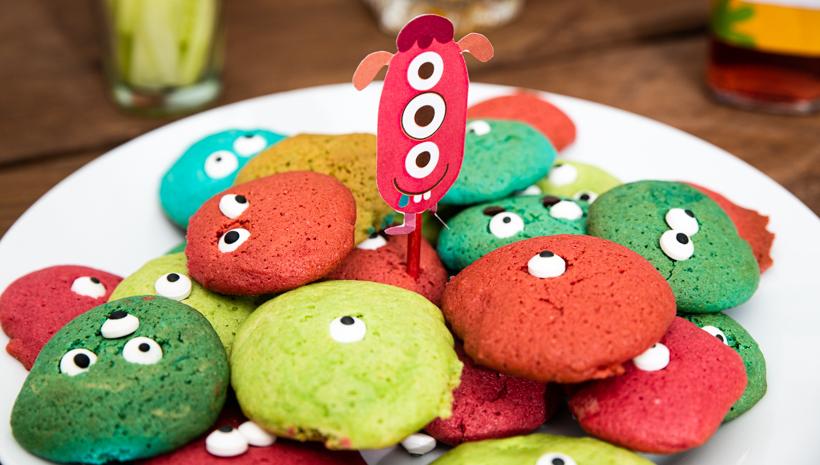 Monster Kindergeburtstag Monster Kekse Deko Idee