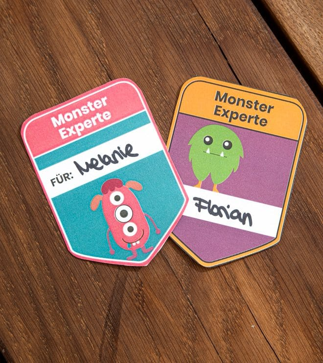 Monster Kindergeburtstag Monsterausweise Vorlage Basteln Shop