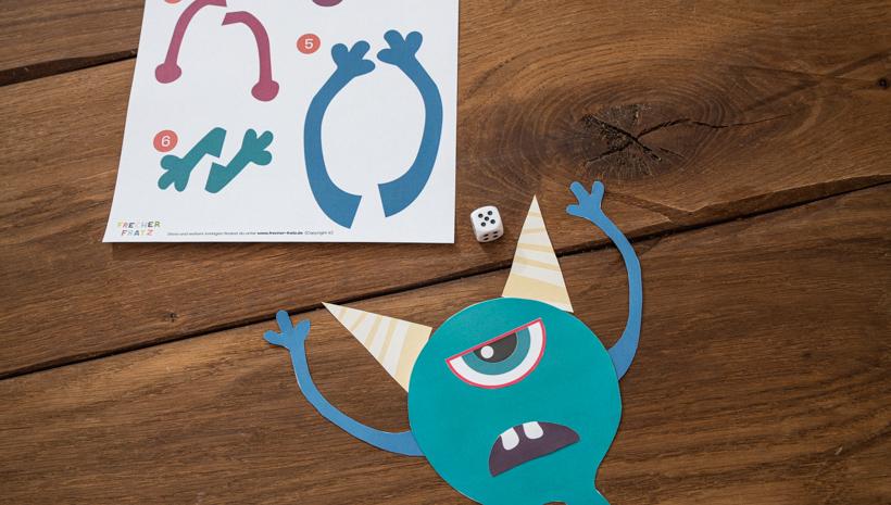 Monster Kindergeburtstag Spiel für kleine Kinder