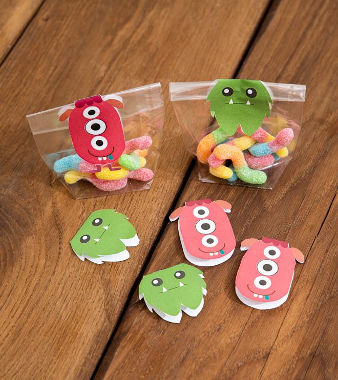 Monster Kindergeburtstag Suessigkeiten Vorlage Basteln Mitgebsel Shop